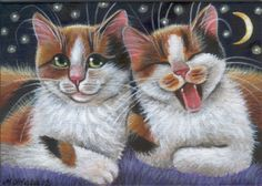 Calico Kitties - Cat Painting in Acrylics