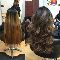 Redlands Hair Stylist Color Correction Yellow Orange to cool smoky ash Balayage Highlights by Emily Cain - Emily A .Cain