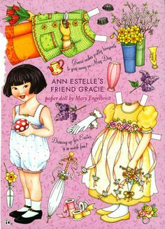 Mary Engelbreit Paper Doll Easter with Gracie
