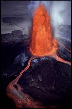 aerial view of volcano eruption - Google 検索