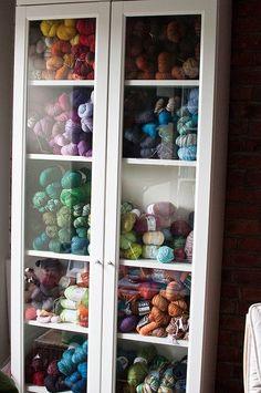 Yarn Storage, Storage Case In Craft Room