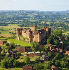 Château de Castelnau-Bretenoux, Prudhomat, Lot département, France. www.castlesandmanorhouses.com The castle of Castelnau-Brenenoux is located on the top of a hill. It is visible from a distance and recognizable by its walls of red stone. It stands...
