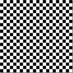Black & White Checkered Scrapbook Paper - x