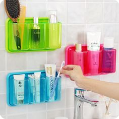 Find More Storage Holders & Racks Information about 3 grids bathroom organizer Drain toothbrush holder adhesive type wall shelf utensils storage rack for Gadgets Kitchen ,High Quality holder pen,China holder garmin Suppliers, Cheap rack laundry from BANONIS Technology Co., Ltd. on Aliexpress.com