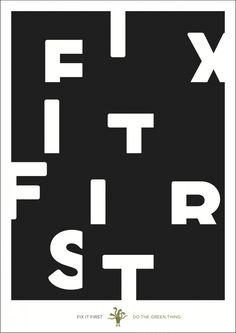 """Fix it First"" by Domenic Lippa"