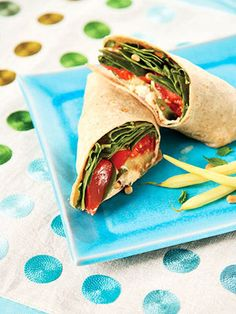 Make this easy meatless sandwich to take for lunch. Hummus and pine nuts provide healthy fats to keep you full until dinner.