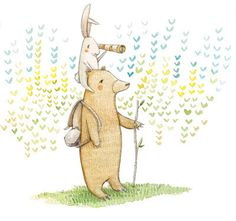 Mary Lundquist Illustration: bunny and bear