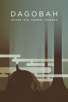 Outer Rim Travel Bureau: Dagobah  by KOMBOH