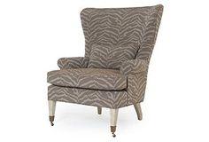 Pearson chair- love this fabric!