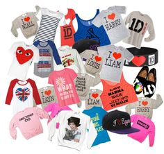 "one direction merchandise | One Direction Shirts!"" by piejanzan on Polyvore 