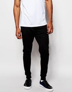 "Joggers by Hugo Boss Soft-touch sweat Drawstring waistband Side pockets Skinny fit - cut closely to the body Machine wash 100% Cotton Our model wears a 32""/81 cm regular and is 188cm/6'2"" tall"