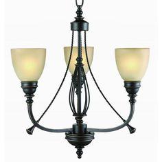 Commercial Electric 3-Light Bronze Chandelier - FEB