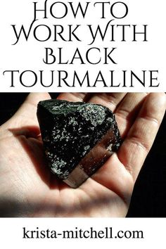 Black tourmaline is a high frequency crystal that helps to neutralize and clear negative energy, and protect you from harmful vibes. Here's how to work with it in crystal therapy, your home, and in your everyday life. Crystal Uses, Crystal Magic, Crystal Healing Stones, Crystal Grid, Quartz Crystal, Healing Rocks, Crystal Castle, Healing Power, Gems And Minerals