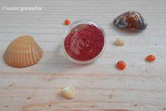 Bague cabochon verre microbilles : Bague par couleur-grenadine33