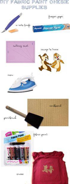 DIY Disney Fabric Paint Freezer Paper Onesie Tutorial