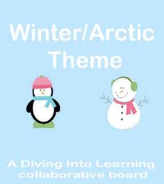 Diving Into Learning: Winter Theme Theme Board
