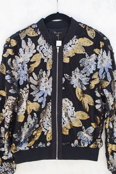 Spice things up with our favorite best seller sequence bomber jacket! Selling Online, Hand Sewing, Bomber Jacket, Men Casual, Shirt Dress, Mens Tops, Jackets, Fashion, Down Jackets