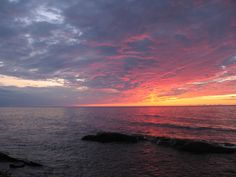 This is like exactly where we go up in the U.P. in Michigan! Ontonagon, MI has the best sunsets!