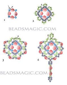 "earrings ""helga"" Beads Magic (pattern)"