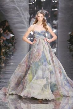 Beautiful, floral gown designed by Ellie Saab.