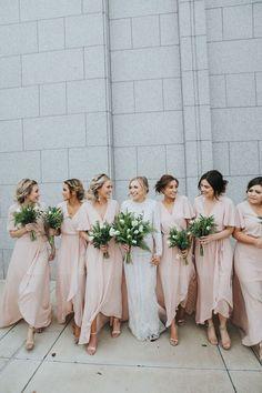 blush pink bridesmaid dresses | #bridal wedding