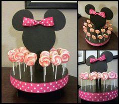Suporte De Isopor Da Minnie  Porta Pirulitos Dicas Pra Mamãe cakepins.com