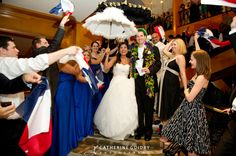 Wedding Exit Ideas: State Flags and a Secondline