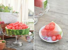 How pretty is this melon cake by martha stewart for a coral / melon wedding!