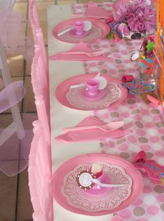 girls tea party tables