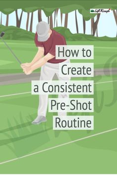 The best golfers in the world have one thing in common. A consistent pre shot routine. Here's how to create your pre shot routine and improve your scores. Girls Golf, Ladies Golf, Golf Clubs For Beginners, Volleyball Tips, Golf Art, Club Face, Golf Instruction, Golf Lessons, Play Golf