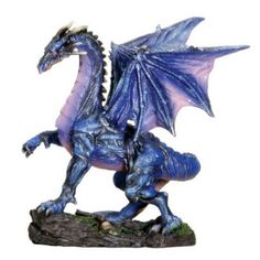 Midnight Dragon Serpent. www.teeliesfairygarden.com . . .  This dragon is hardly seen in the morning! He flies at midnight with the bats and other night creatures! #dragons