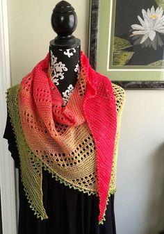 "Ravelry: ""Layla"" Beaded Shawl pattern by O/C Knitiot Designs - Deby Lake"