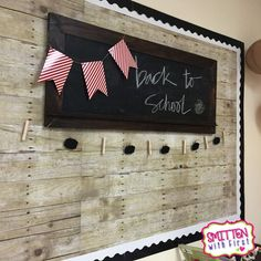 love the wood bulletin board