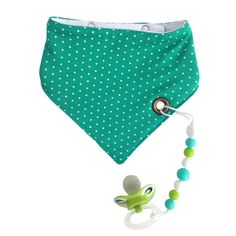 Baby - Green Bubble Baby Bandana