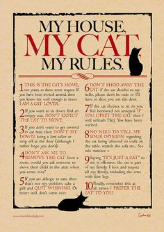 My House My Cat My Rules Digital print for cat por MADOLDCATLADY, £5.50