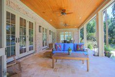 River porch, sunroom in background