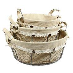 3 Piece Toscana Circle Basket Set