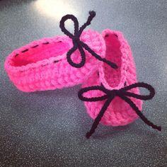 Crochet Girl  ballerina shoes