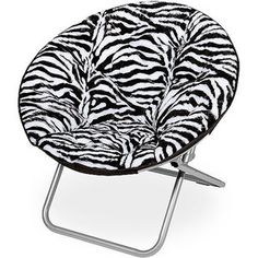 """I want a zebra print """"moon chair"""" or """"basket"""" chair like this!!!"""