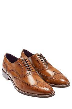 fb13adb3c931 next Herren Signature Schnürschuhe Leder Schuhe Flügelkappe in Braun Herren  Accessoires Männer Mode Herrenschuhe Anzuh Männer