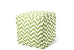 Zigzag Outdoor Cube, Green on OneKingsLane.com