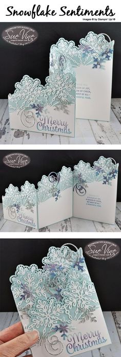z-Fold card using Snowflake Sentiments by Sue Vine | MissPinksCraftSpot | Stampin' Up!® Australia Order Online 24/7 |Snowflake Senitments | #snowflakesentiments #christmas #handmadecard #rubberstamp #stampinup