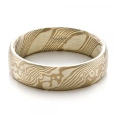 Men's Mokume Half Round Band | Joseph Jewelry | Bellevue | Seattle | Online | Design Your Own Ring