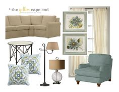 Updated-Traditional Two Room Design~The Living Room. This reminds me of my living room. Blue Living Room Decor, Small Living Room Design, Family Room Design, Small Living Rooms, New Living Room, Living Room Interior, Living Room Designs, Living Room Furniture, Living Room Flooring