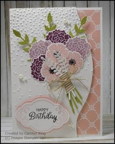 Stampin' Up! Beautiful Bouquet, Label me pretty