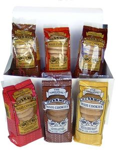 6-PACK COOKIE LOVER GIFT SET - COOK KWEE MAUI COOKIES - http://www.yourgourmetgifts.com/6-pack-cookie-lover-gift-set-cook-kwee-maui-cookies/