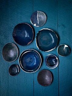 elephant ceramics-Michele Michael ceramics in teal, dark turquoise, emerald, lagoon