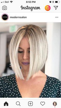 Trendy haircut ideas shoulder length blonde Ideas – Hair is art Inverted Bob Hairstyles, Long Bob Haircuts, Straight Hairstyles, Cool Hairstyles, Hairstyles Haircuts, Straight Bob Haircut, Wedding Hairstyles, Halloween Hairstyles, Fashion Hairstyles
