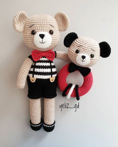 Baby Gifts Handmade Free Pattern 58 New Ideas Doll Patterns Free, Crochet Animal Patterns, Crochet Patterns Amigurumi, Amigurumi Doll, Crochet Dolls, Bear Patterns, Free Pattern, Crochet Teddy, Crochet Bear