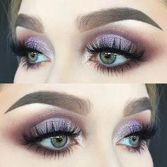 eyeshadow looks easy makeup revolution makeup eyeshadow quad eyeshadow makeup expire makeup price to do glitter eyeshadow makeup makeup geek makeup 2020 Makeup Eye Looks, Makeup For Green Eyes, Pretty Makeup, Love Makeup, Makeup Inspo, Makeup Inspiration, Purple Makeup, Purple Wedding Makeup, Makeup Ideas